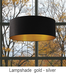 lampshades inside gold