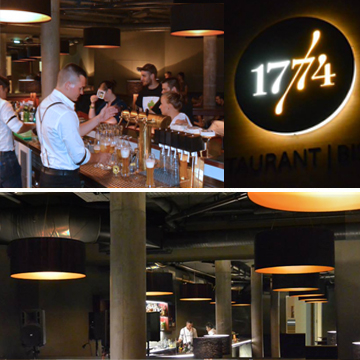 Pendelleuchten gold Bar und Resrtaurant