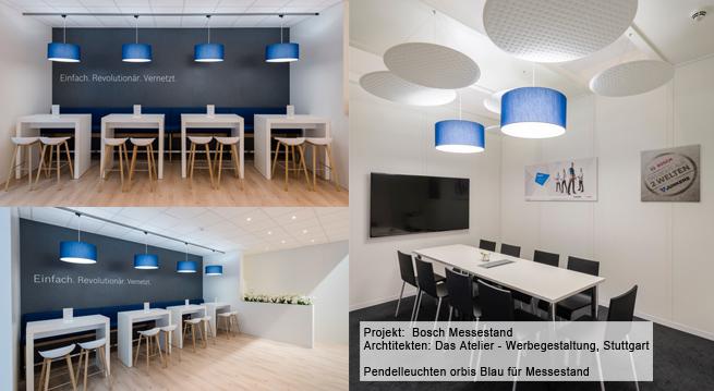 Lampenschirme Hersteller für Bosch-Messestand