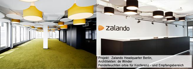 Lampenschirmhersteller für Zalando Office Berlin