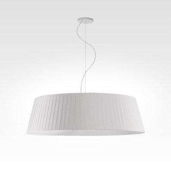 pendant lamp pleated cream