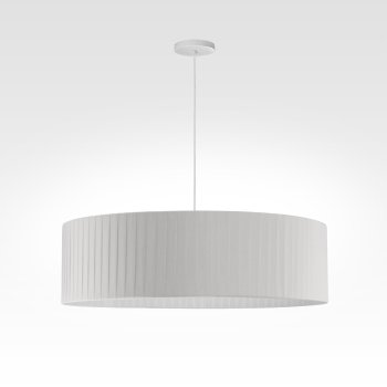 pleated hanging lamp white