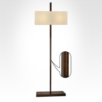 wooden floor lamp with lampshade
