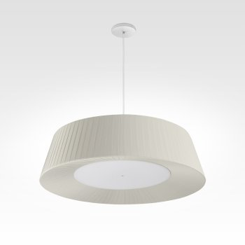 pleated lampshade cream