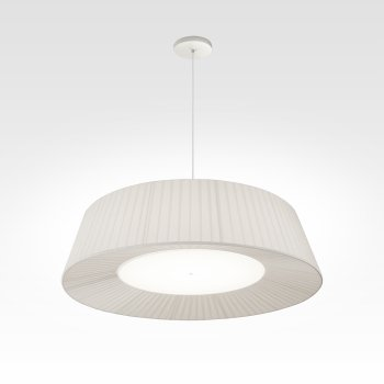 pleated lampshade white