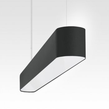 modern LED pendant light dining table and dining room black