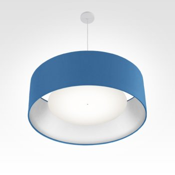lampe suspension argent bleu ø 70