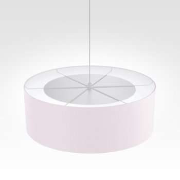 Suspension luminaire rose