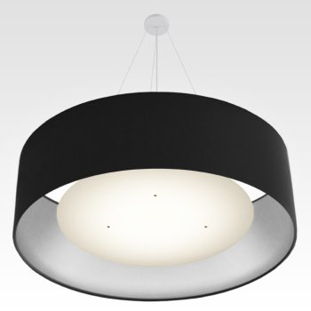 lampe suspension argent noir ø 120