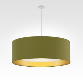 lamp shade gold-fabric diameter 70