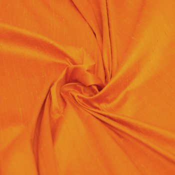 Dupioni silk orange