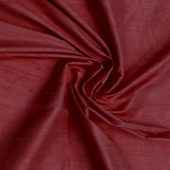 Dupioni silk dark red