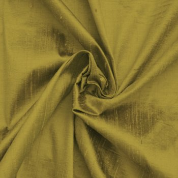 Dupioni silk olive green light