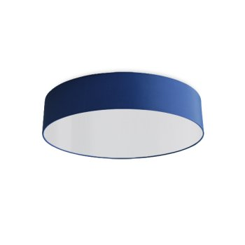 round ceiling light living room blue