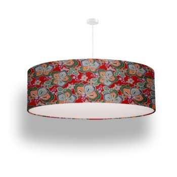 lamp shade flowers red