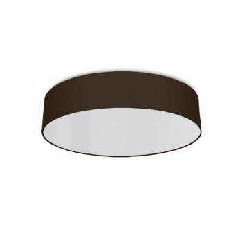 round ceiling light living room brown