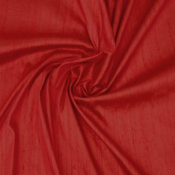 Dupioni silk red