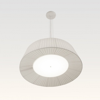 pleated pendant light white