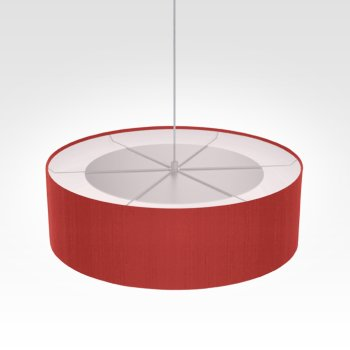 Suspension luminaire rouge