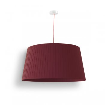 lamp shade pleated red