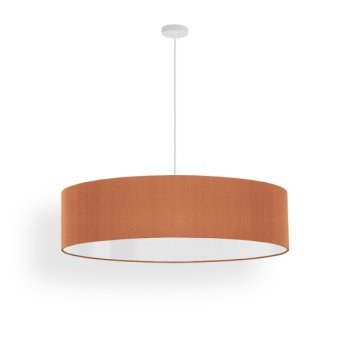 led hanging lamp silk beige red