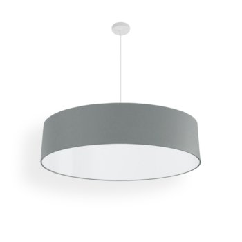 suspension abat-jour gris