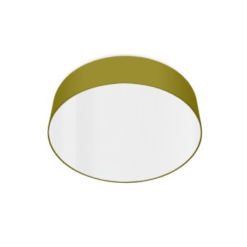 led ceiling luminaire bright olive-green