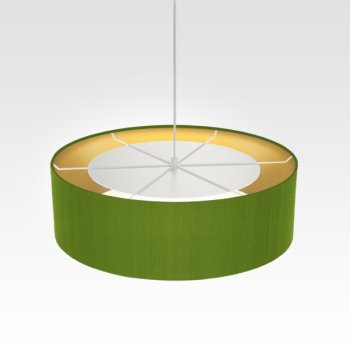 hanging light inside gold green for living room
