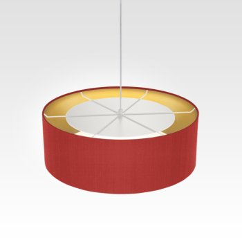 hanging light inside gold red for living room