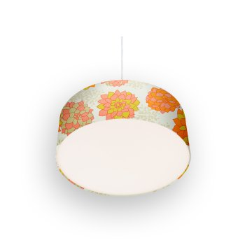 lamp shade Dahlias cream-red