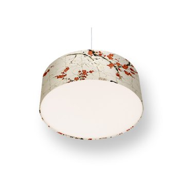 lampshade cherry blossoms - cream red