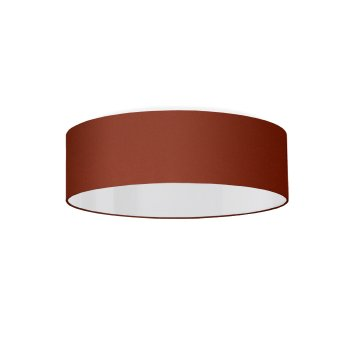 Ceiling lamp rouille rouille rouge