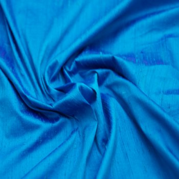 Dupioni silk blue