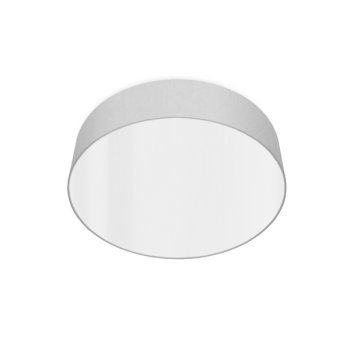 led ceiling luminaire silver