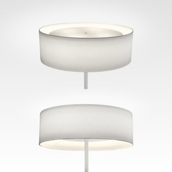 Floor lamp with white lampshade
