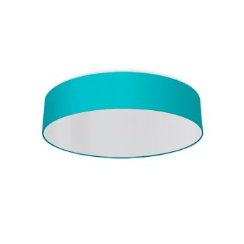 round ceiling light living room turquoise
