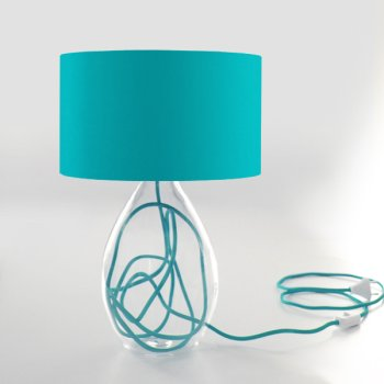 table lamp turquoise