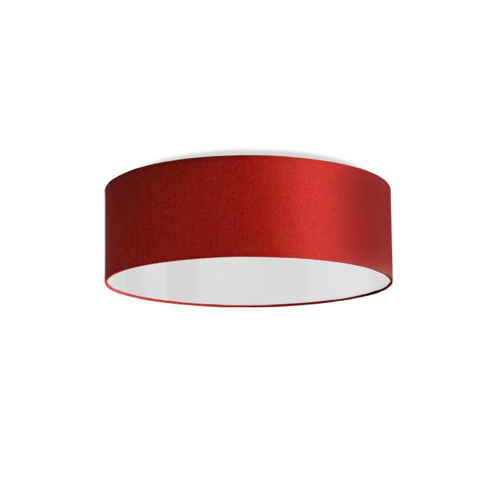 Runde Deckenleuchte Stoff Deckenlampenschirm Wohnzimmer Rot