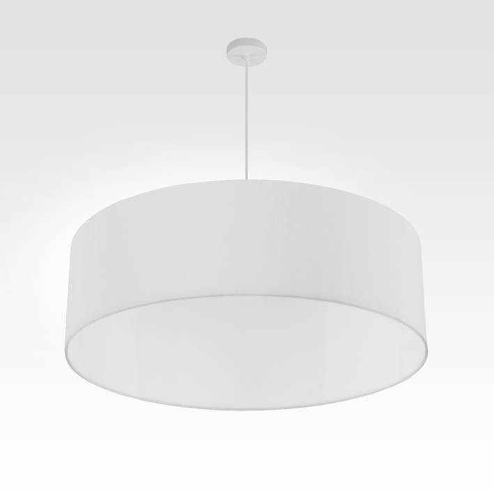Pendelleuchte   Lampenschirm Stoff weiß