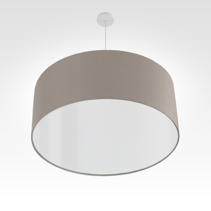 pendelleuchte lampenschirm stoff beige grau. Black Bedroom Furniture Sets. Home Design Ideas