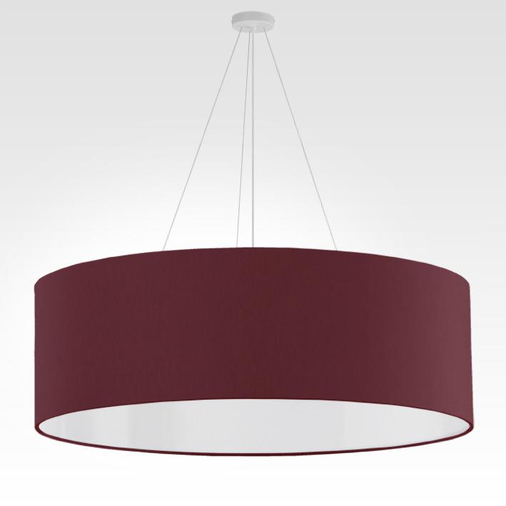 pendelleuchte lampenschirm stoff bordeauxrot. Black Bedroom Furniture Sets. Home Design Ideas