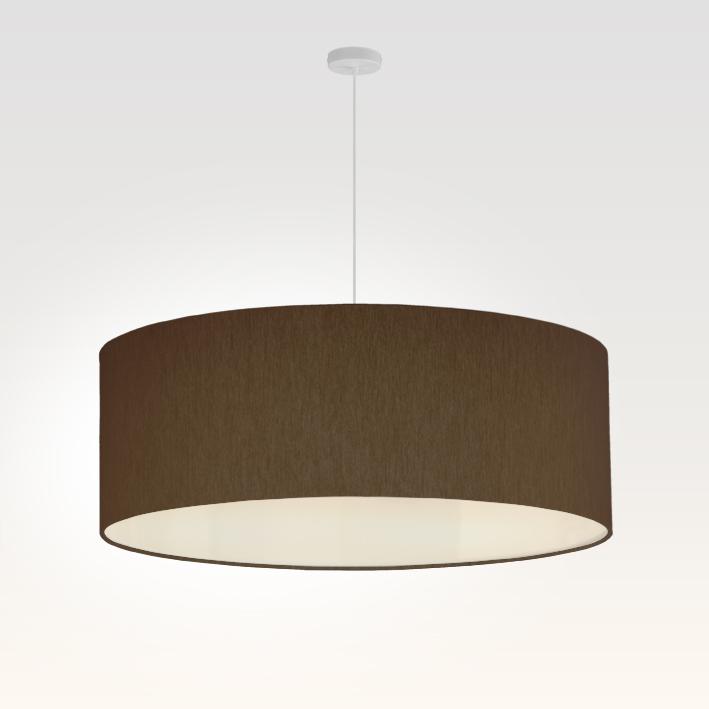 pendelleuchte lampenschirm stoff braun