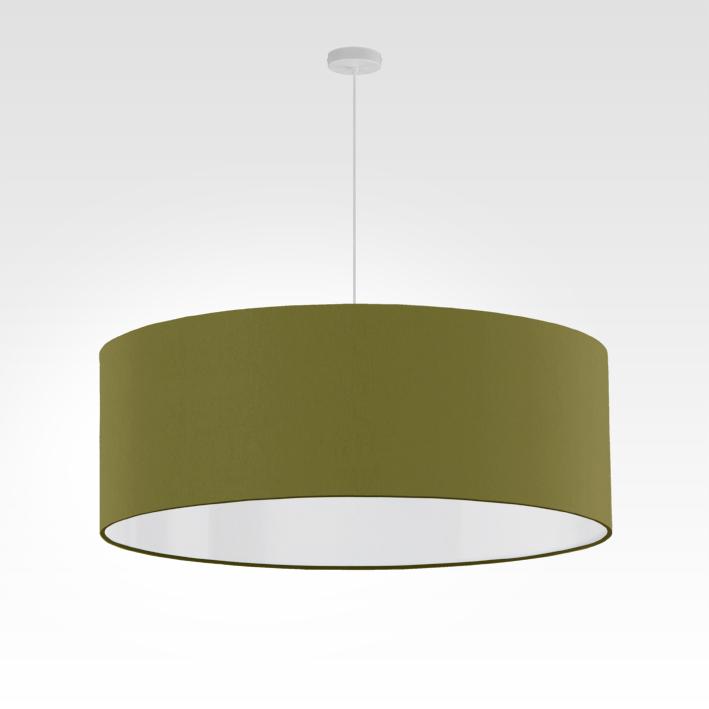 pendelleuchte lampenschirm stoff olivgr n. Black Bedroom Furniture Sets. Home Design Ideas