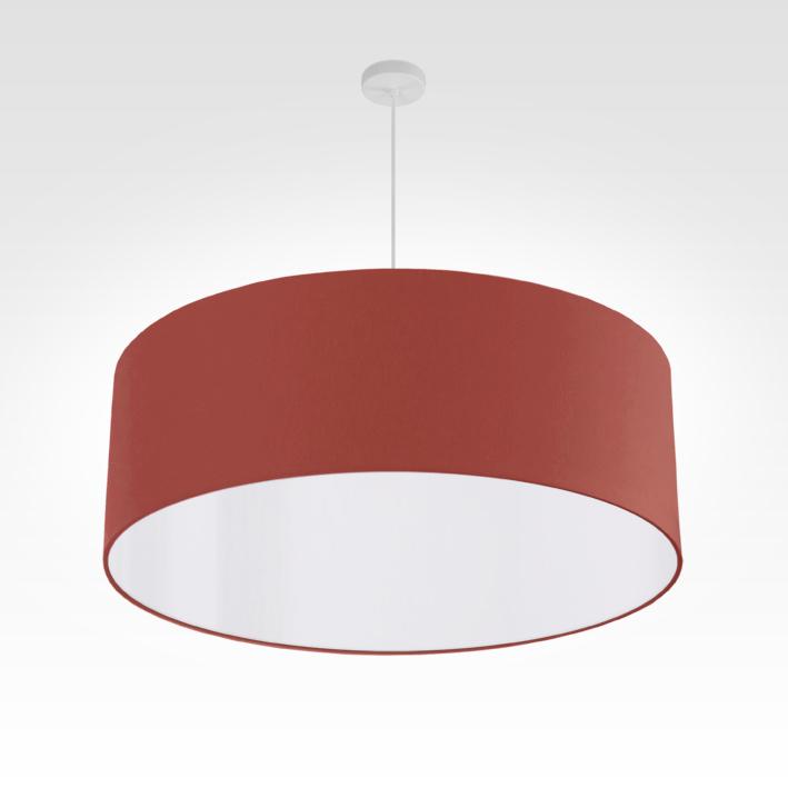 pendelleuchte lampenschirm stoff rostrot. Black Bedroom Furniture Sets. Home Design Ideas