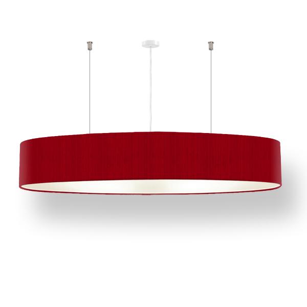 Ovale lampe ellipse 120 cm manufaktur lucere for Pendelleuchte oval stoff