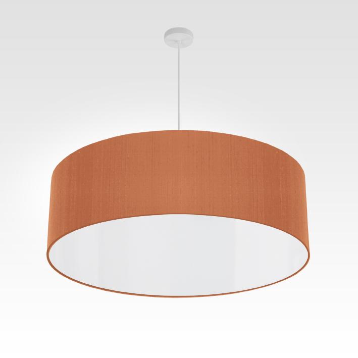 Lampe suspension beige rouge | pendentif pour salon et chambre