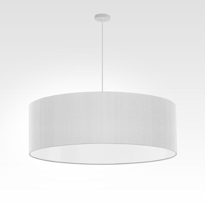 Lampe suspension blanche | pendentif pour salon et chambre