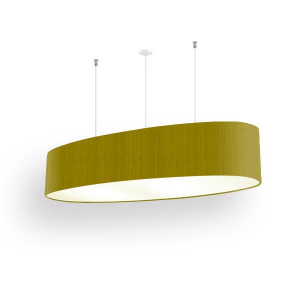 Lampenschirm oval ellipse 90 cm   Seide