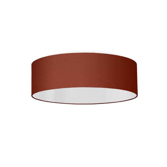Luminaire plafonnier led lurondo couleur rouille rouge