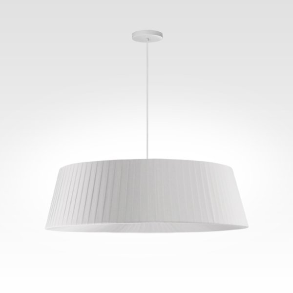 pleated pendant lamp white